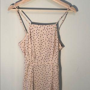Express Polka Dot Maxi Dress